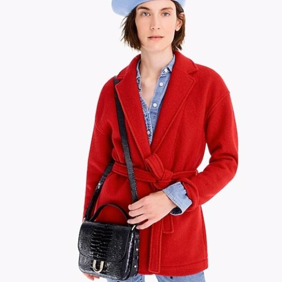 a1999ce69e83e NEW J.CREW Camille Coat Italian Boiled Wool MEDIUM